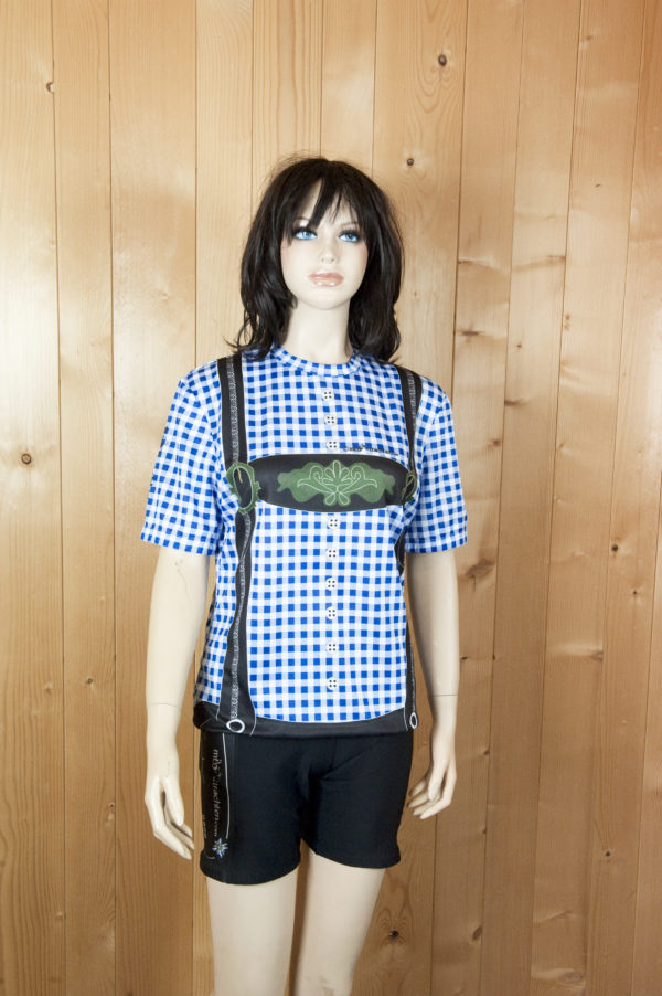 Laufbekleidung Damen blau-schwarz Hose