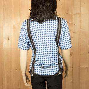 Laufbekleidung Damen blau-schwarz Trikot