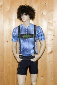 Laufbekleidung Herren blau-schwarz Set