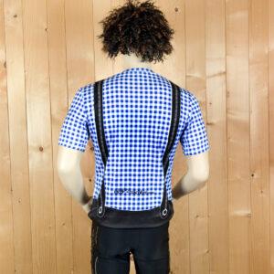 Laufbekleidung Herren blau-schwarz Trikot