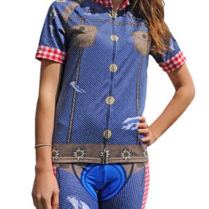 Radbekleidung Damen Jeans Trikot