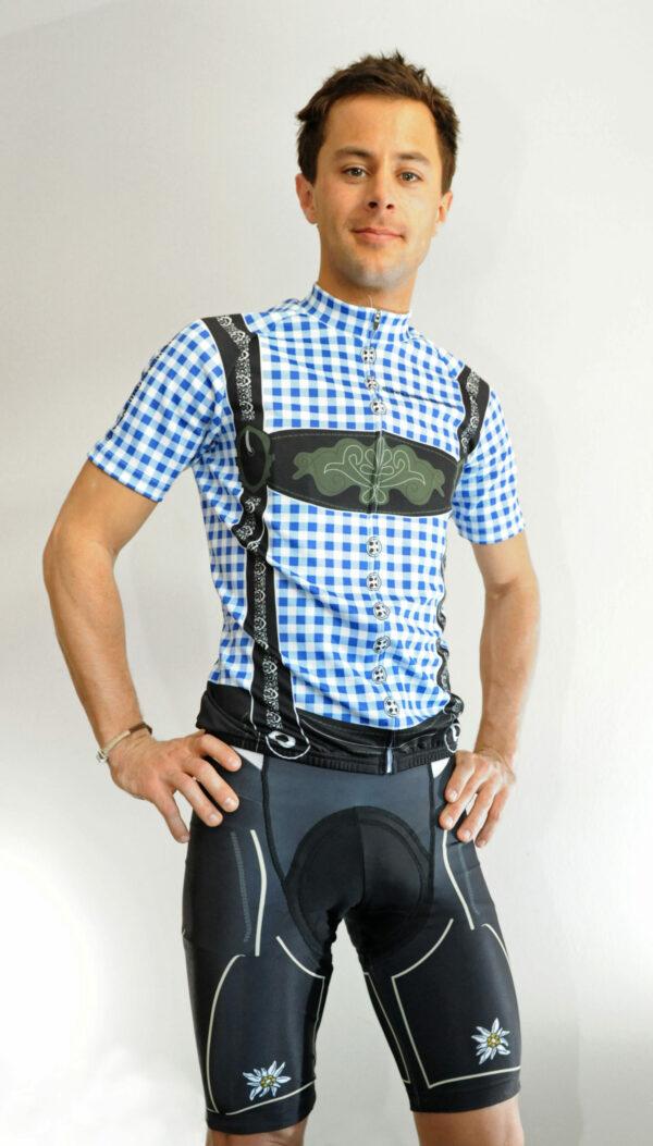 Radbekleidung Herren blauschwarz Hose