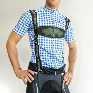 Radbekleidung Herren blauschwarz Set