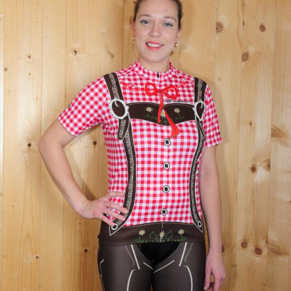 Radbekleidung Damen Rot braun Hose