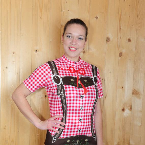 Radbekleidung Damen Rot braun Trikot