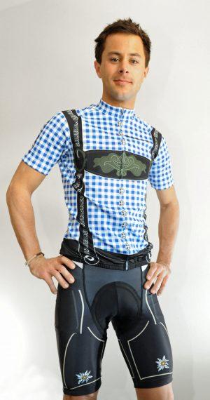 Radbekleidung Herren blauschwarz Trikot